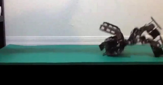 Researchers Teach A Robot How To Fall Gracefully