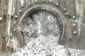 Watch This Tunnel-Boring Machine Tear Through A Wall