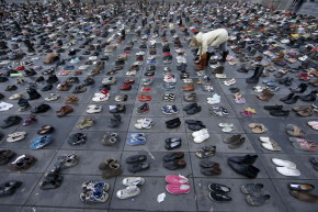 10,000 Pairs Of Shoes Replaced Parisians In Climate Change March