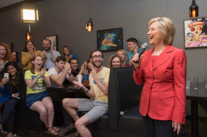 Hillary Clinton's Campaign Runs On Pizza