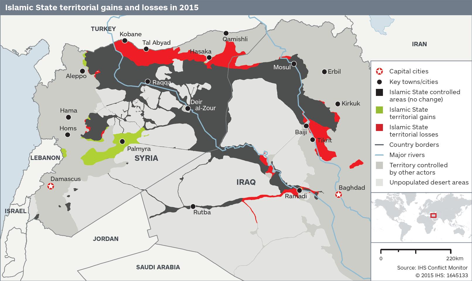 ISIS Losses 2015