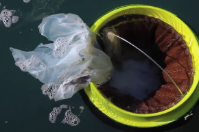 This Floating Trash Can Sucks Up Ocean Garbage