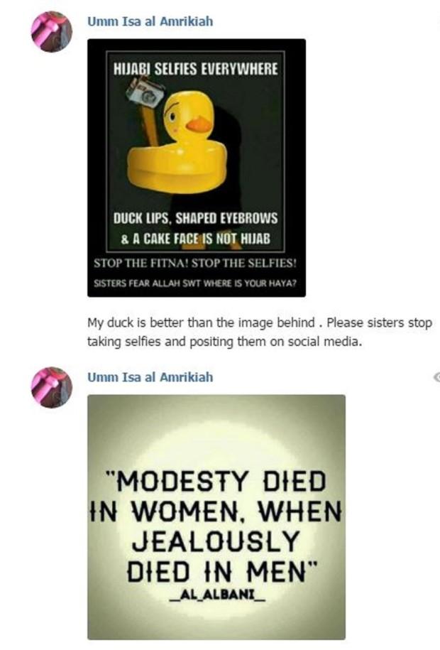 ISIS Umm Isa Modesty1