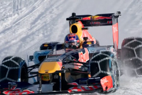 Watch A Formula 1 Car Race On Ski Slopes