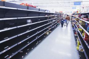 Anxious Shoppers Empty Shelves Ahead Of Major Snowstorm