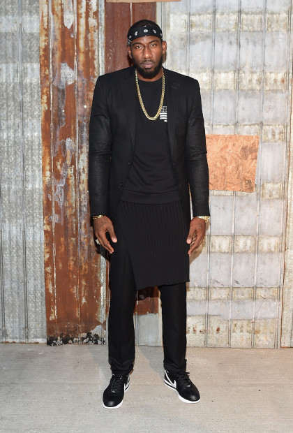 NEW YORK, NY - SEPTEMBER 11:  NBA player Amar'e Stoudemire attends the Givenchy fashion show during Spring 2016 New York Fashion Week at Pier 26 at Hudson River Park on September 11, 2015 in New York City.  (Photo by Michael Loccisano/Getty Images)