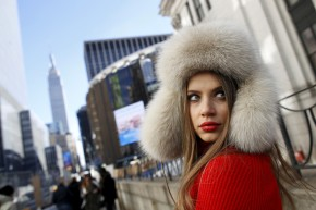 A Cozy Valentine's Day Look From a Cold Day at Fashion Week