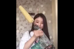 Girl Tries To Eat Corn Off A Drill, Loses Hair