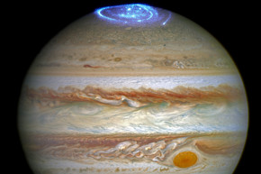 Hubble Spies Jupiter's Dazzling Light Show