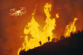 Man Arrested For Flying Drone Over California Wildfire