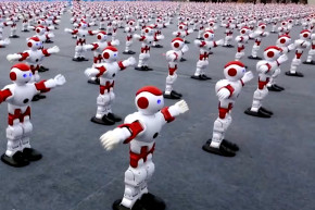 Wow, 1,000 Robots Dancing Together Is Creepy