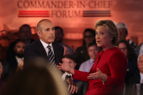 Matt Lauer Accused Of #LaueringTheBar During Presidential Forum