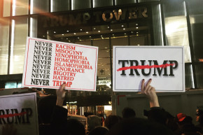 The Night After: Anti-Trumpers Gather In Shock And Sadness