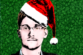 Use Edward Snowden's New Voicemail Greeting To Spread Holiday Fear