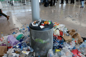 Airport Cleaner Strike Reveals The Mountains Of Trash We Make