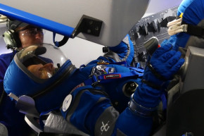 Astronauts Get New, Bright Blue Spacesuits