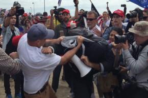 Trump Fan Beats Down Intern At Make America Great Again Rally