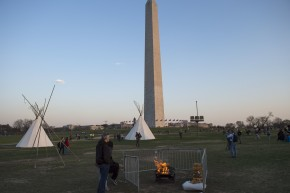 DAPL Protesters Brave Winter Weather In D.C. March