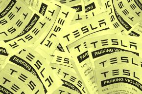 Before Going To Mars, Elon Musk Should Perhaps Fix Tesla's Parking Lot