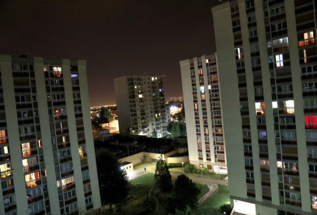 """Apartment buildings are seen in the Cite Raymond Queneau in Bobigny, France, September 4, 2016. REUTERS/Joe Penney SEARCH """"CREATIVE BANLIEUE"""" FOR THIS STORY. SEARCH """"WIDER IMAGE"""" FOR ALL STORIES. THE IMAGES SHOULD ONLY BE USED TOGETHER WITH THE STORY - NO STAND-ALONE USES. - RTSQUN5"""