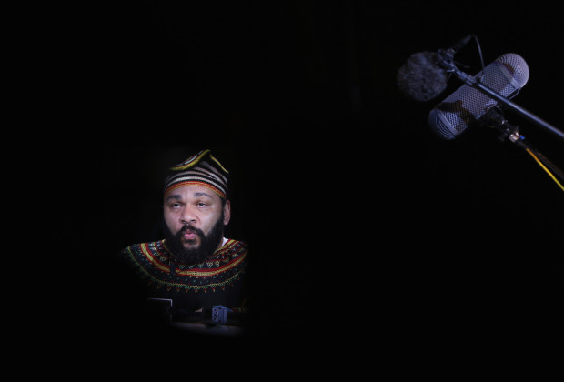"""French comedian Dieudonne M'Bala M'Bala, also known as just """"Dieudonne"""", attends a news conference at the """"Theatre de la Main d'or"""" in Paris January 11, 2014. A French court upheld a ban on a show scheduled in the central city of Tours on Friday by Dieudonne, accused of insulting the memory of Holocaust victims, the second performance in a nationwide tour to be banned.   REUTERS/Gonzalo Fuentes (FRANCE - Tags: ENTERTAINMENT CRIME LAW POLITICS) - RTX179MX"""