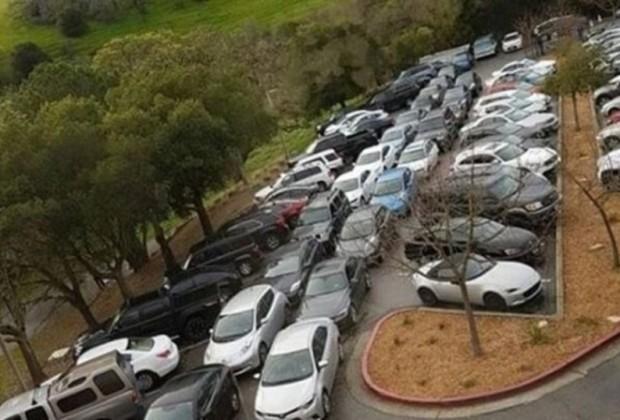tesla parking lot 1